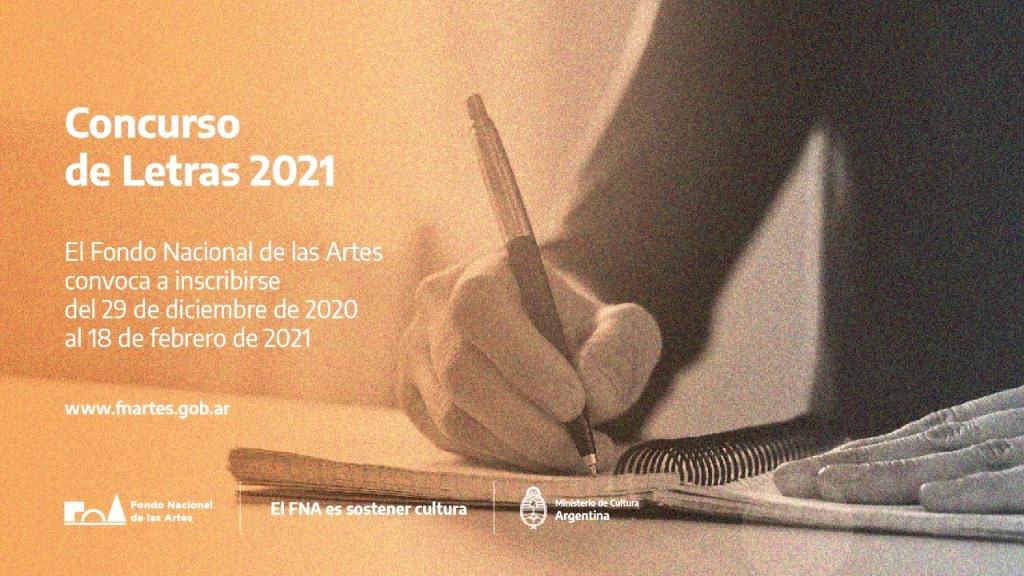 Continúa abierta la inscripción del concurso de letras del Fondo Nacional de las Artes