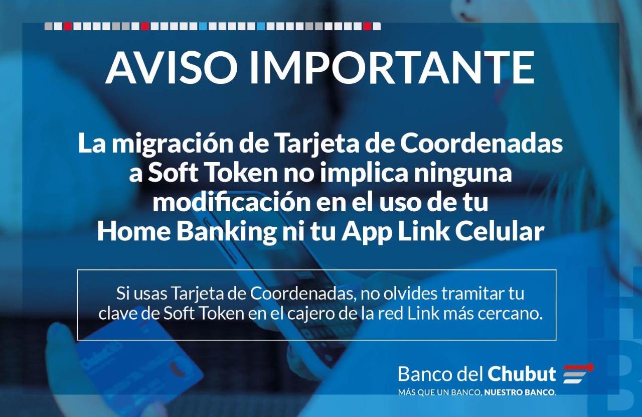 A partir de marzo el Banco del Chubut renueva las medidas de seguridad para operatorias virtuales