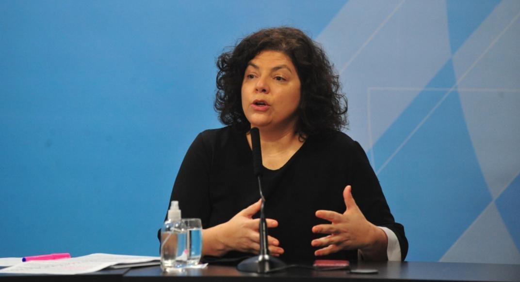 La ministra de Salud Vizzotti se contagió de coronavirus