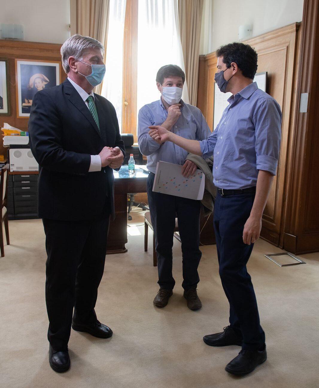 Wado de Pedro recibió en Casa Rosada a los gobernadores de Tierra del Fuego y La Pampa