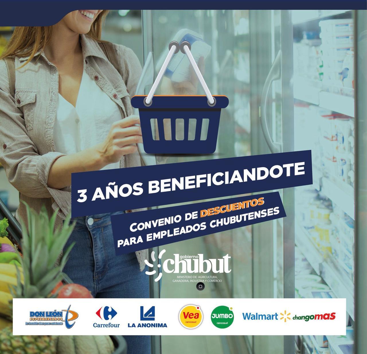 Chubut: El programa de descuentos en supermercados de toda la Provincia cumple tres años de vigencia