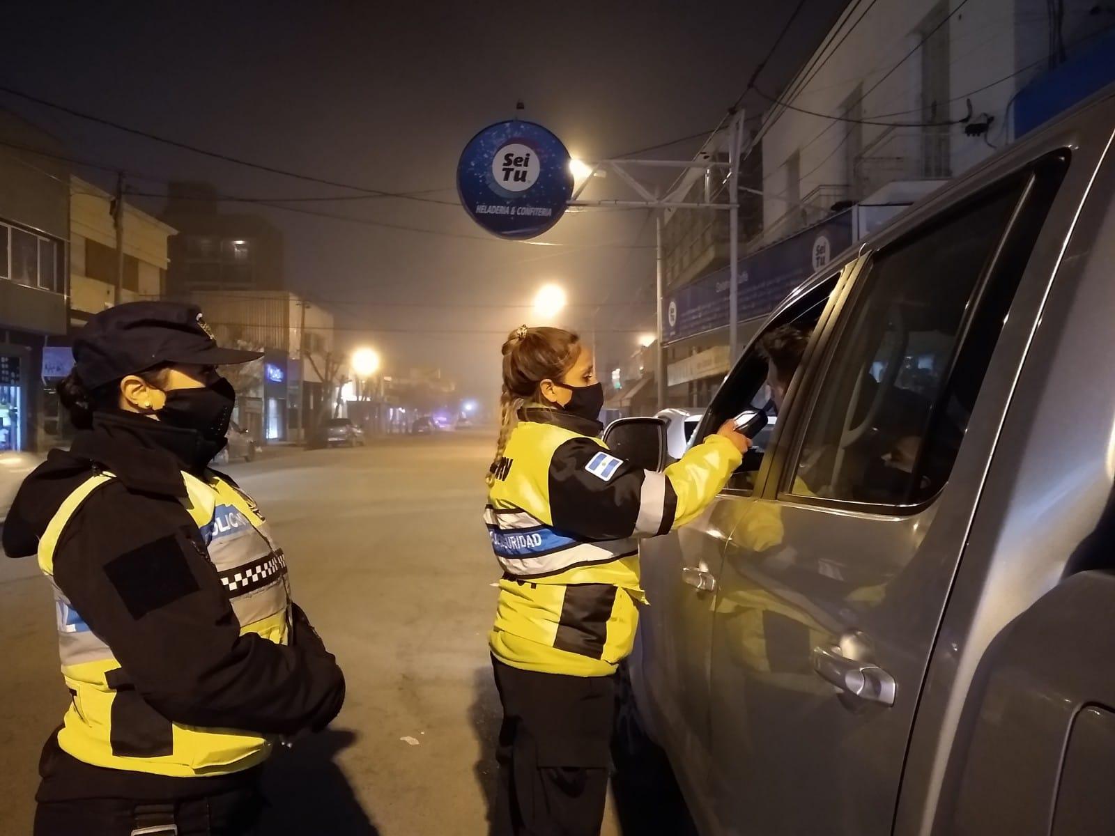 Chubut: Hubo 79 conductores con alcoholemias y narcolemias positivas durante este fin de semana